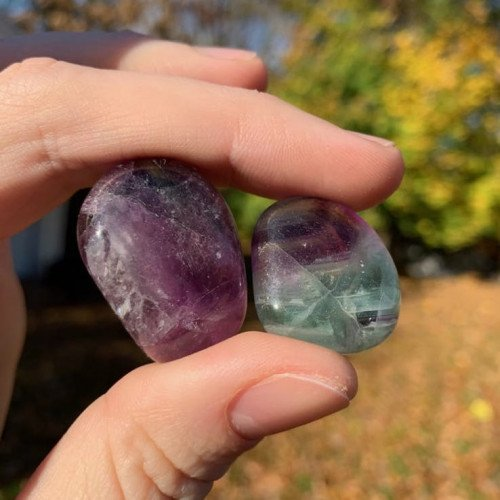 Polished Fluorite Pocket Stones