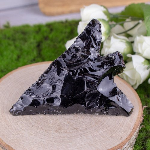 Small Black Obsidian Spear