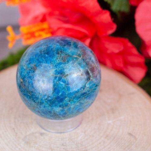 Small Blue Apatite Sphere