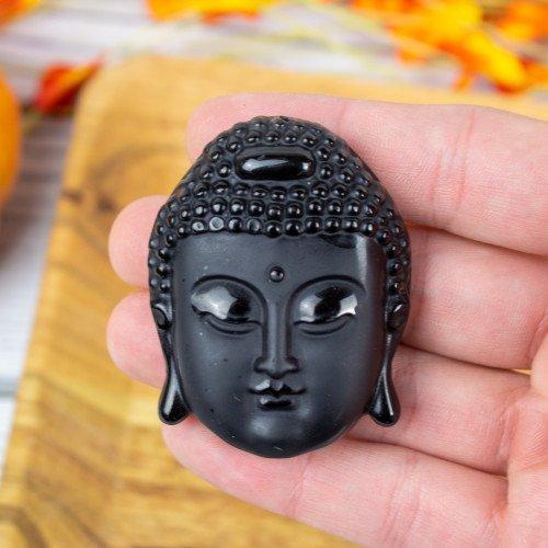 Obsidian Buddha Idol