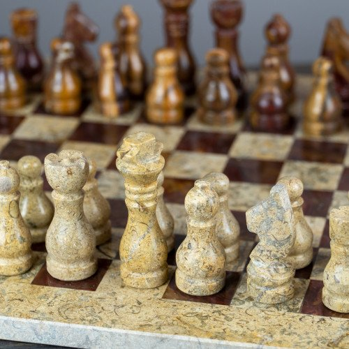 Red Onyx Chess Set