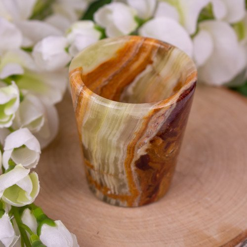 Green Onyx Shot Glass