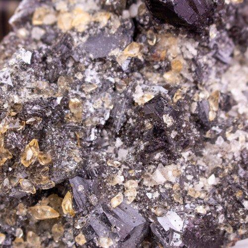 Stellar Beam Calcite and Quartz on Sphalerite
