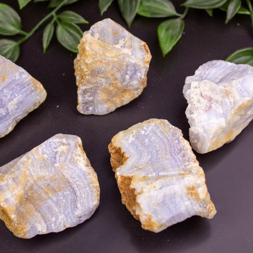 Raw Blue Lace Agate (Medium Grade)