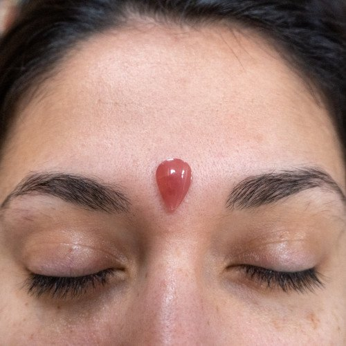 Small Rhodochrosite Meditation Teardrop