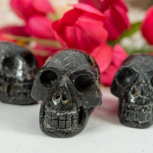 Large Nuummite Skull
