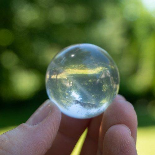 Sri Lankan Hand-Polished Quartz Sphere