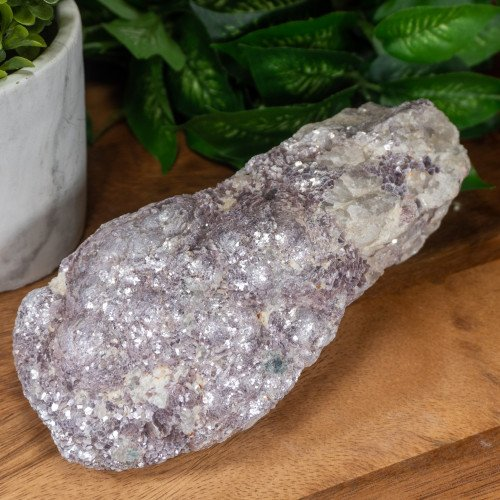 Large Raw Botryoidal Lepidolite on Quartz #3