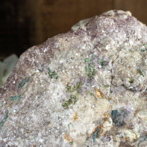Large Raw Botryoidal Lepidolite on Quartz #5