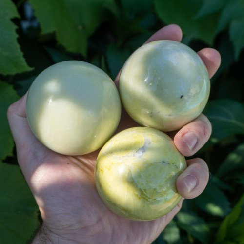 Yellow Jade Sphere