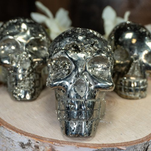 Pyrite Skull
