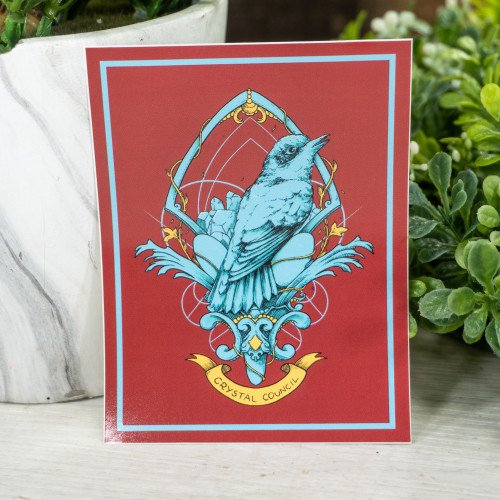 Crystal Bird Sticker