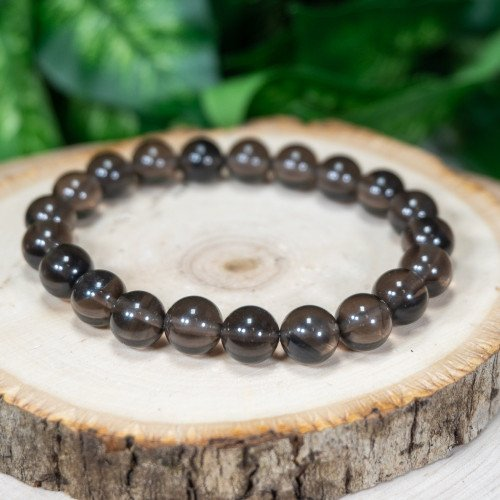 Midnight Lace Obsidian Bracelet 8mm