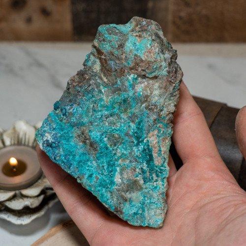 Medium Dioptase on Quartz with Shattuckite and Chrysocolla #6