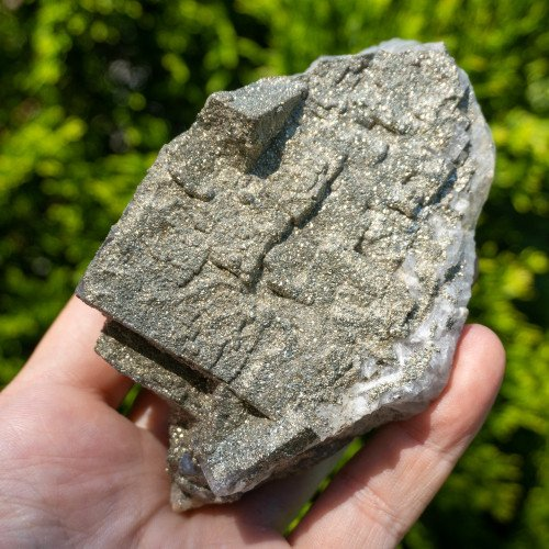 Medium Fluorite with Druzy Quartz and Pyrite #8