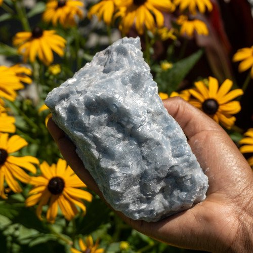 Large Raw Blue Calcite