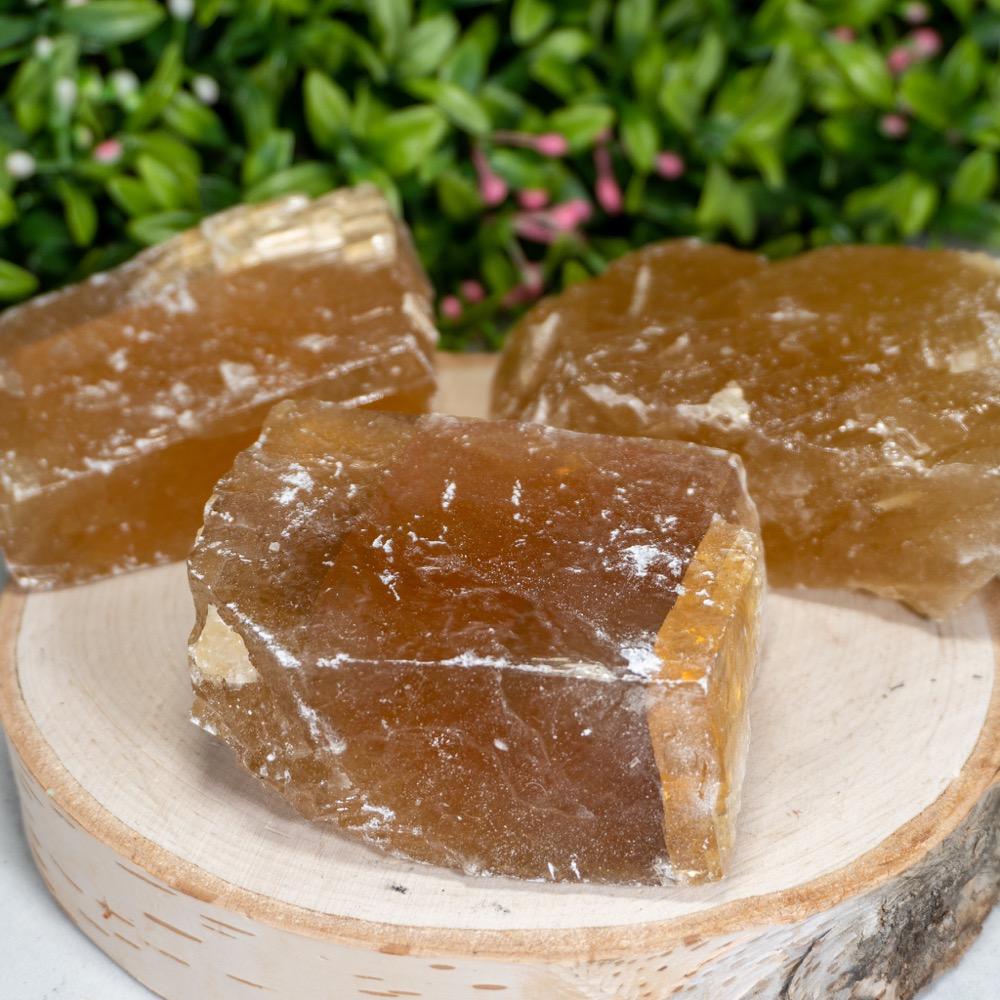 Medium Raw Honey Calcite