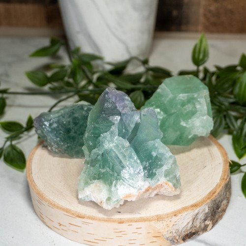 Small Raw Purple & Green Fluorite