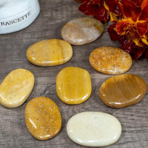 Yellow Aventurine Palm Stone
