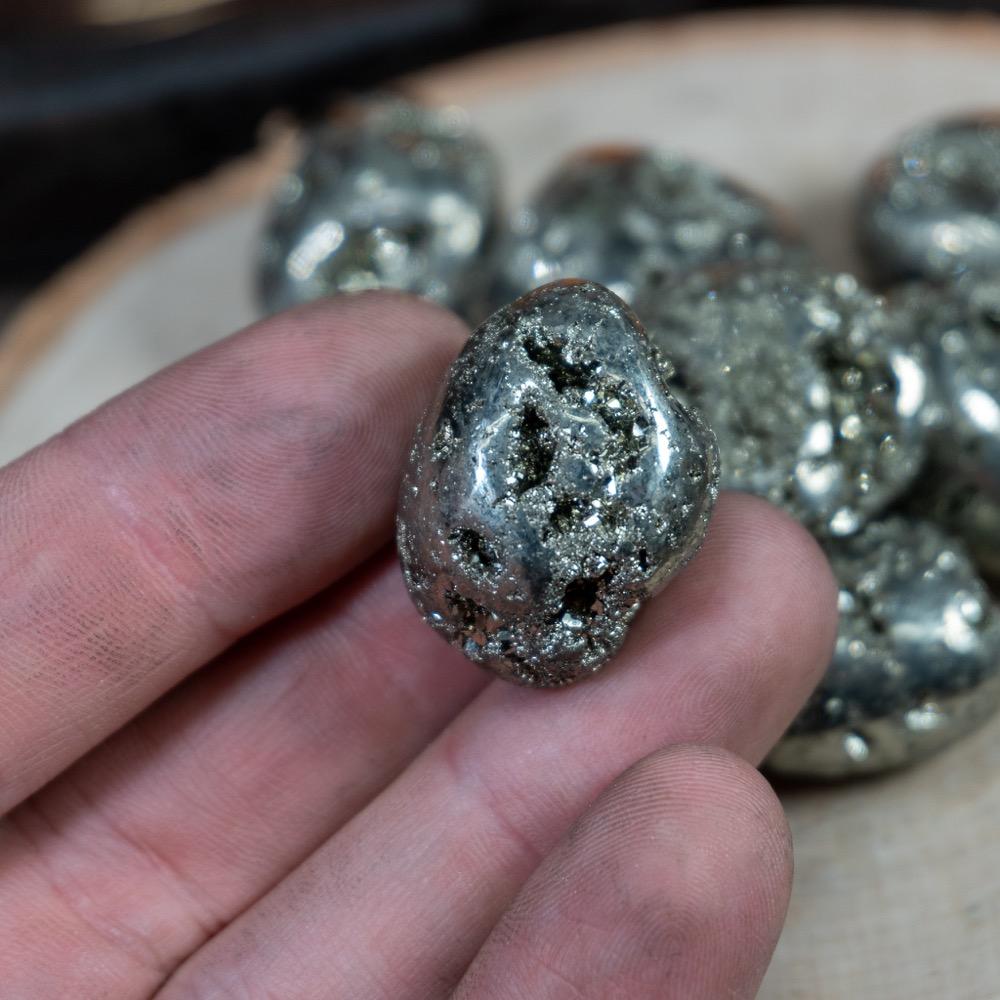 Pyrite Tumbled
