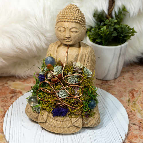Crystal Buddha #5 with Fluorite and Quartz