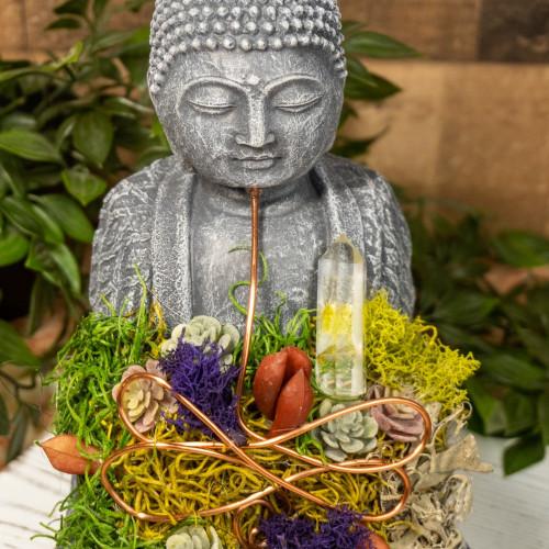Crystal Buddha #9 with Quartz and Fluorite