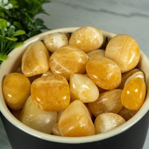Orange Calcite Tumbled