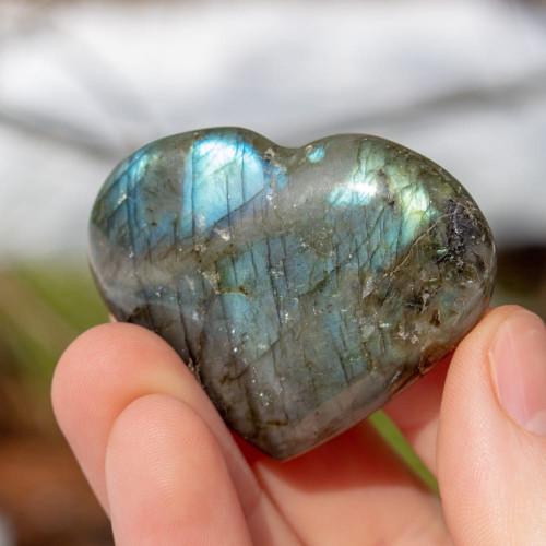 Labradorite Heart - January Charity Stone