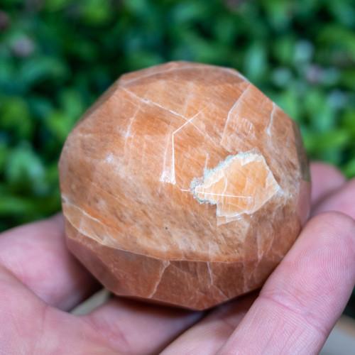 Peach Moonstone Sphere (Faceted)