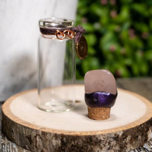 Tumbled Rose Quartz Intention Jar