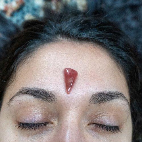 Rhodochrosite Meditation Teardrop
