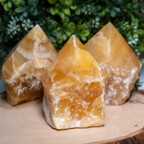 Orange Calcite Polished Point