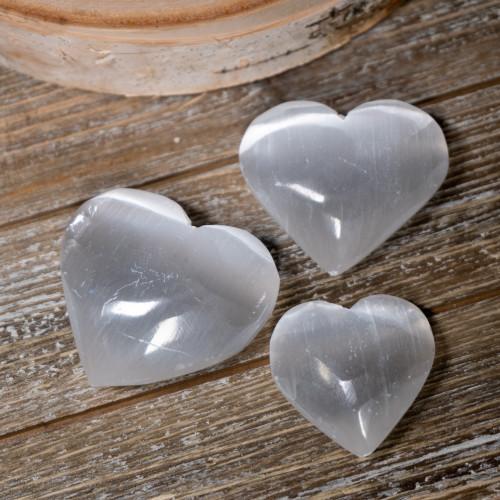 Small Selenite Heart