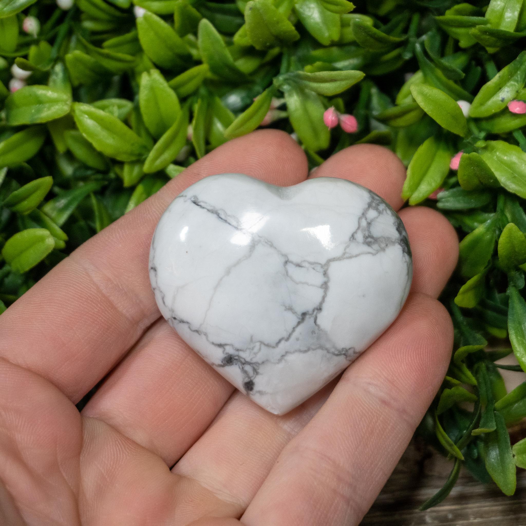 Howlite Heart