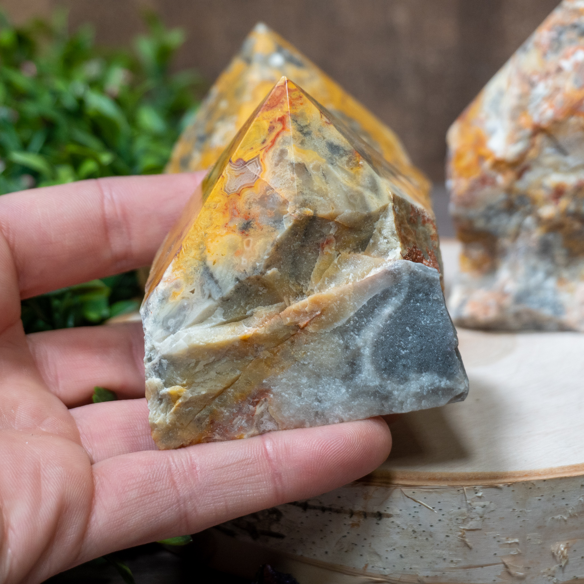 Crazy Lace Agate Polished Point