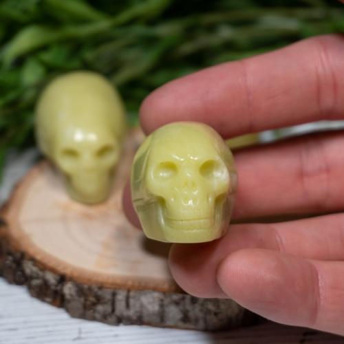 Serpentine Anunnaki Skull