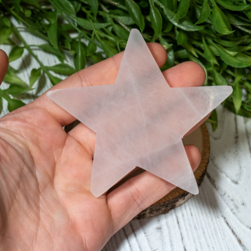 Selenite Star Plate