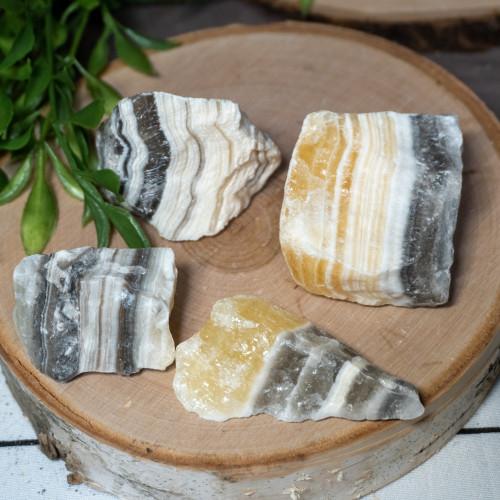Small Raw Zebra Calcite