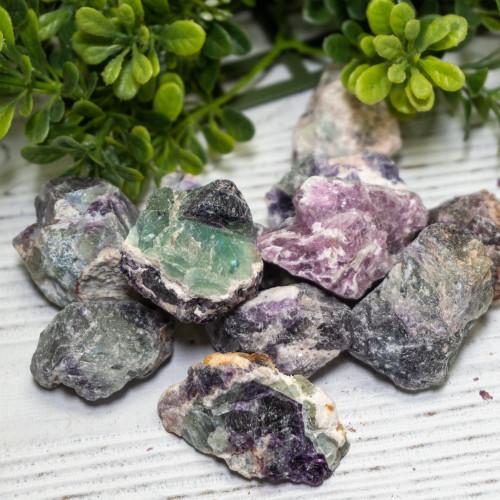 Small Raw Purple and Green Fluorite
