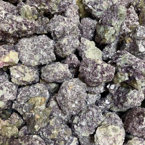 Raw Medium Lepidolite in Quartz