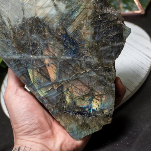 Labradorite Half Polished #2