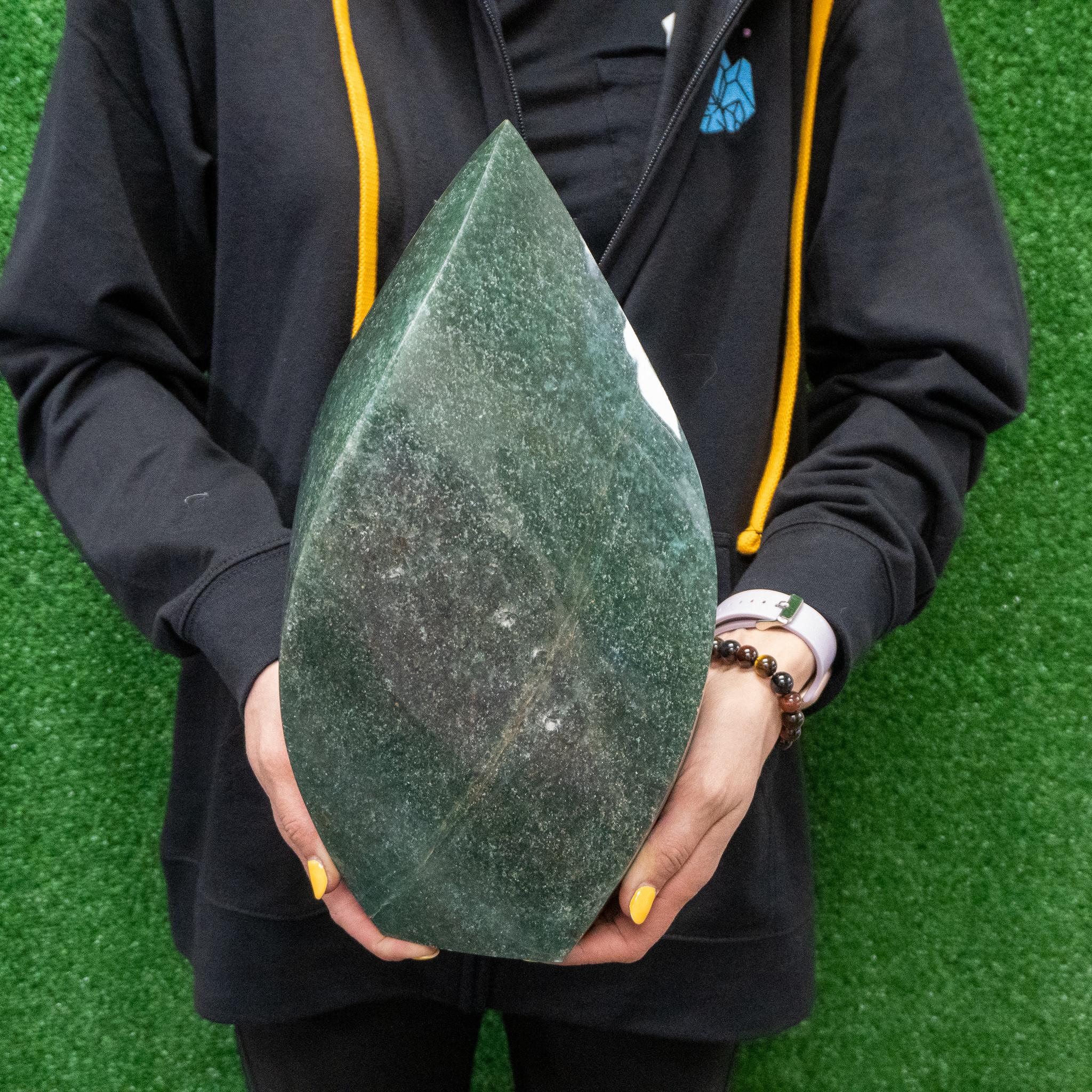 Large Green Aventurine Twist