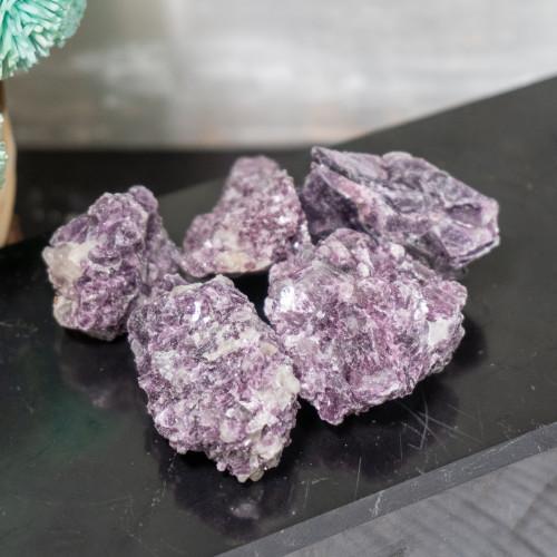 Small Raw Lepidolite in Quartz