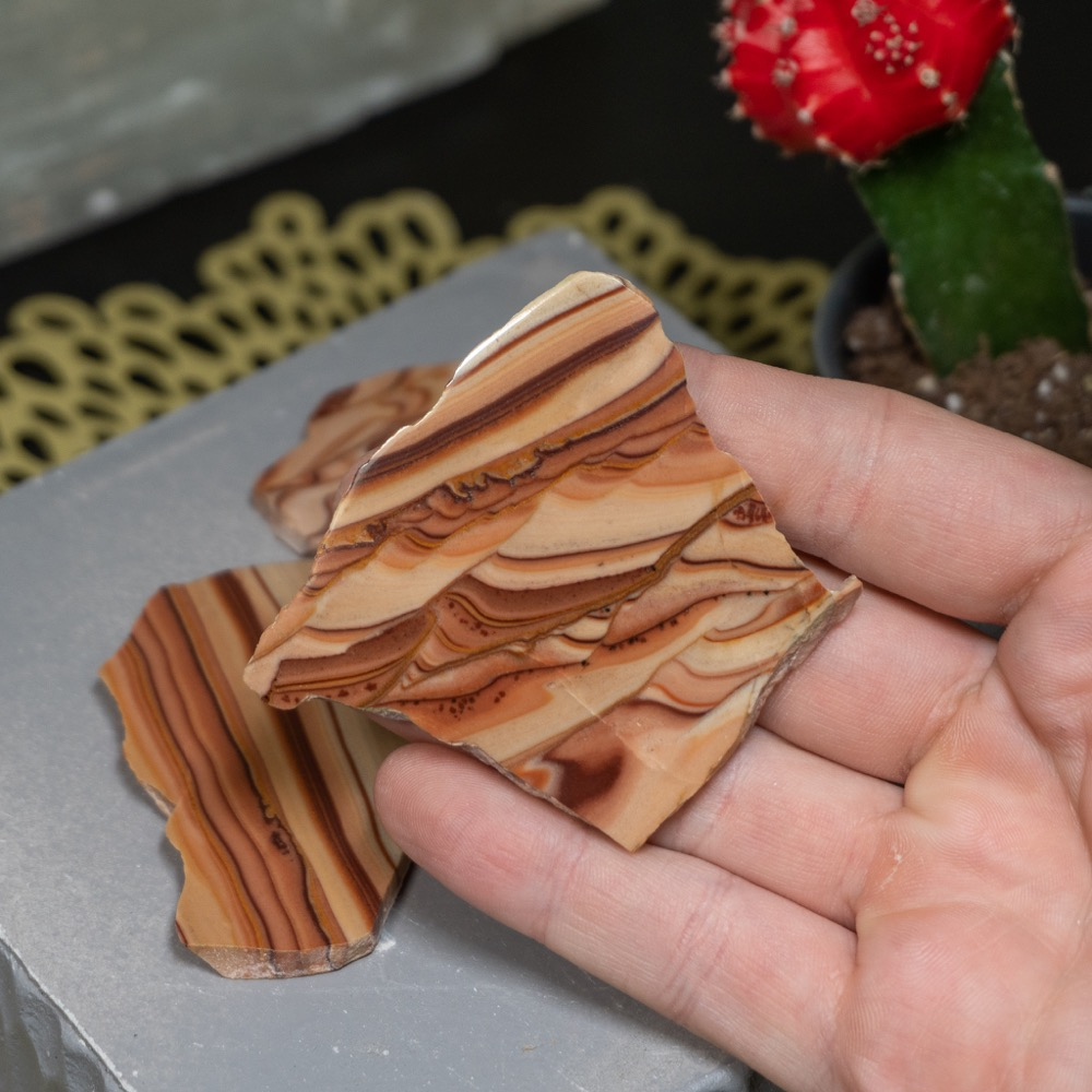 Wave Dolomite Half Polished Palm Piece