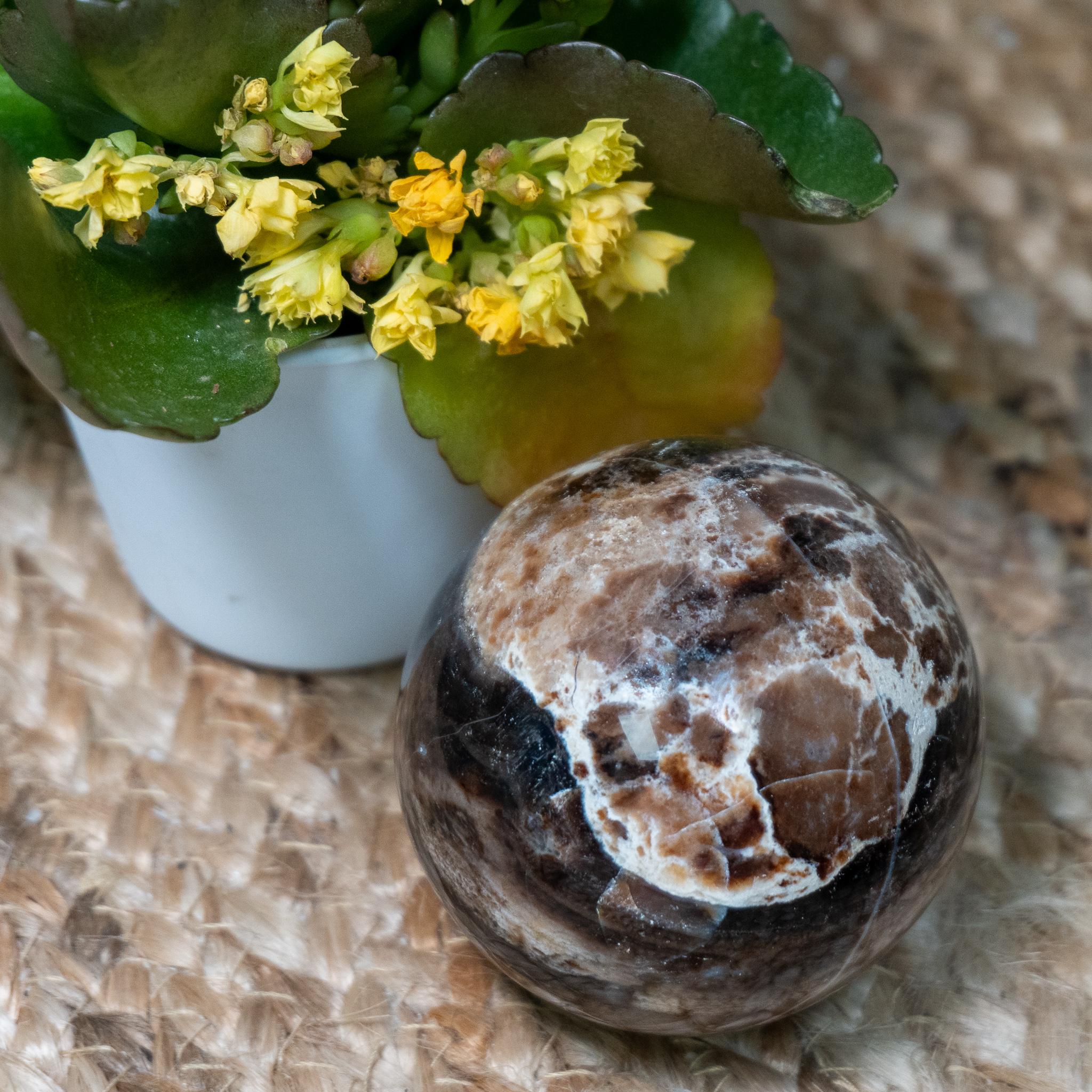 Medium Black Opal Sphere
