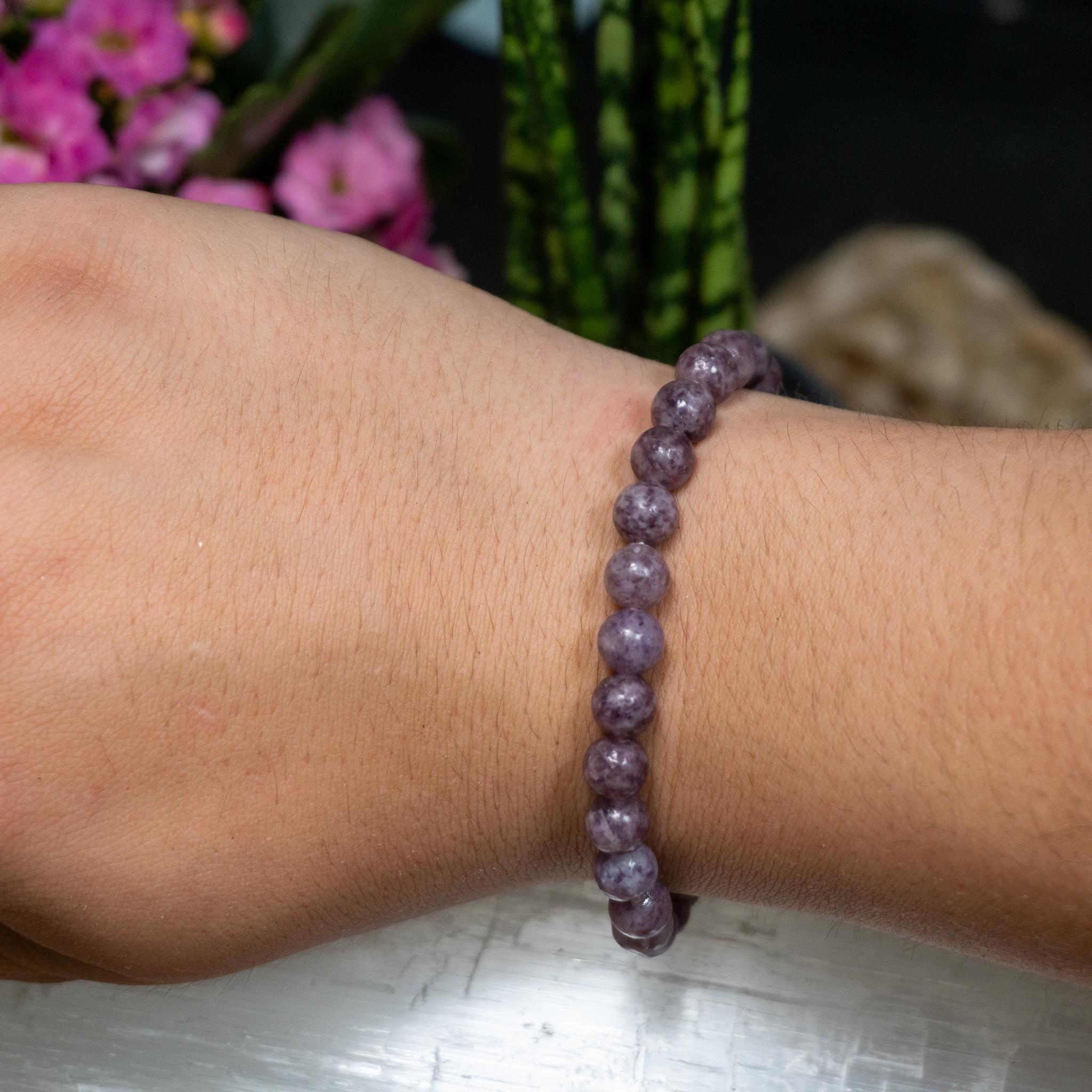 B Quality Lepidolite Bracelet (6mm)