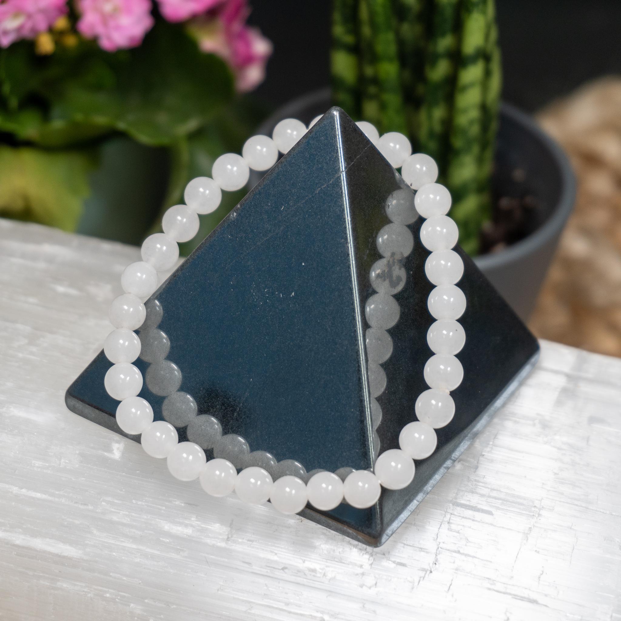 White Jade Bracelet (6mm)