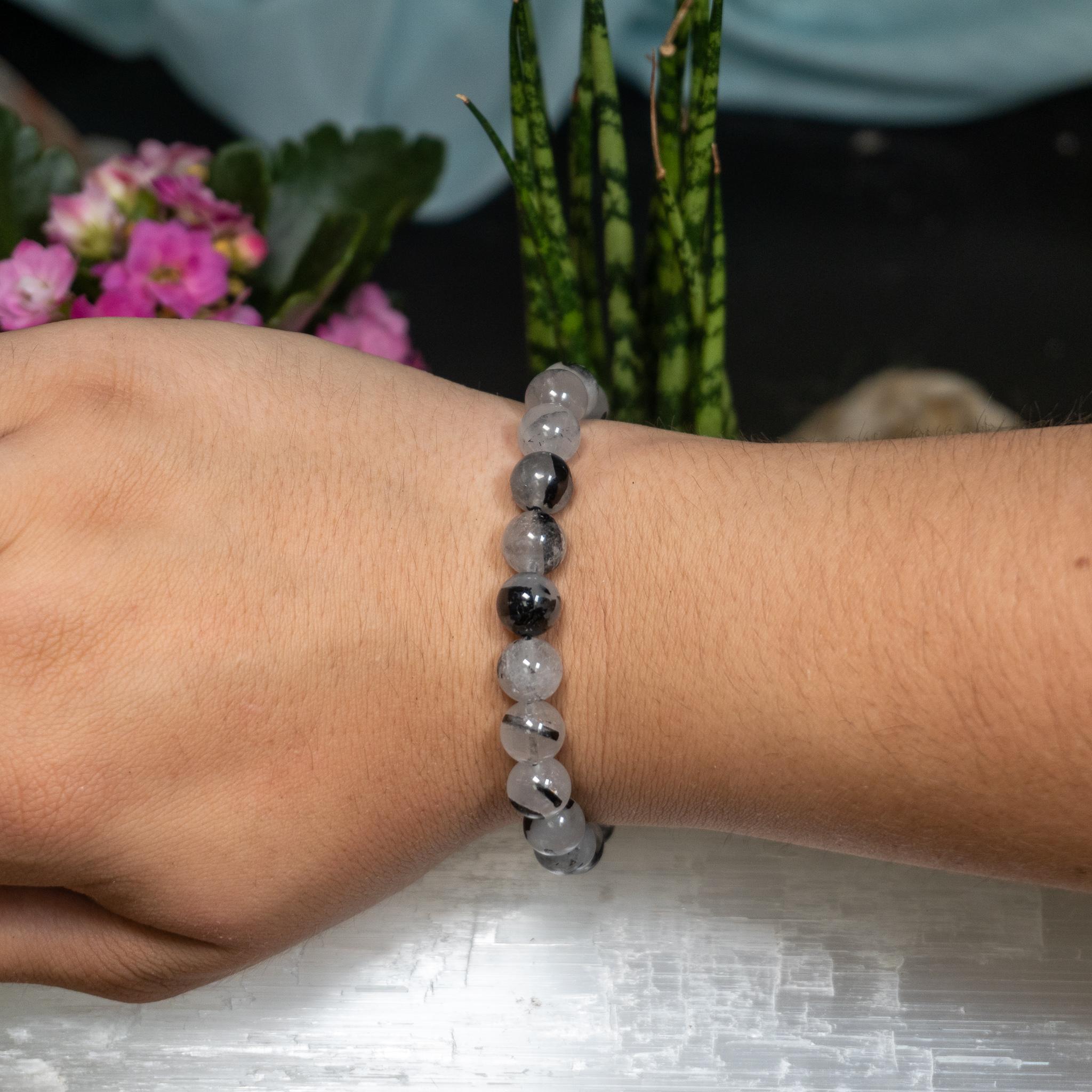 Tourmalated Quartz Bracelet (8mm)