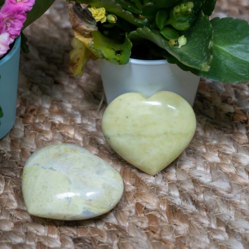 Yellow Jade Heart