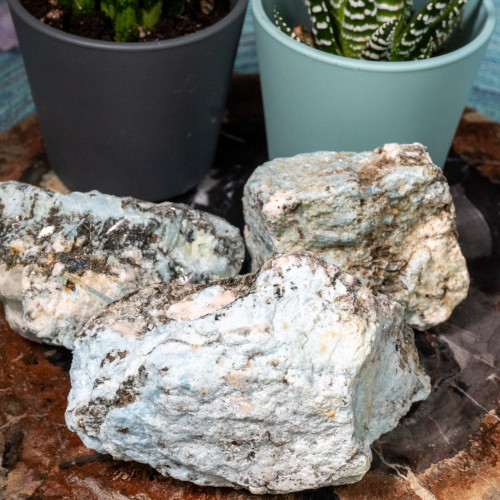 Medium Mexican Raw Aquamarine